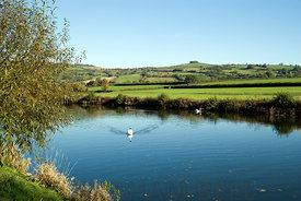 River Avon and Kelston Hill, Saltford, Bath.