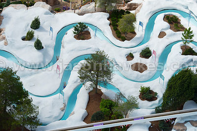 Blizzard Beach at the Walt Disney World Resort is the sister park to Typhoon Lagoon. Designed to look like a ski resort, this snowy water park has an array of winter themed rides.