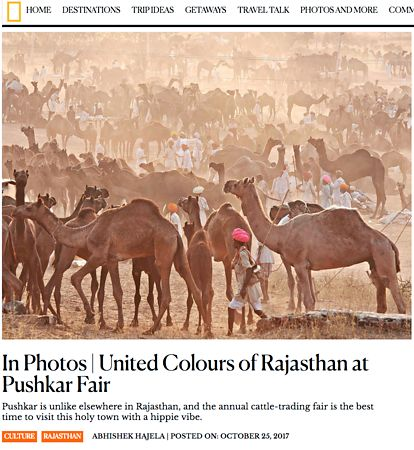 Nat Geo India, Pushkar Photo Essay, Oct 25 2017 photos