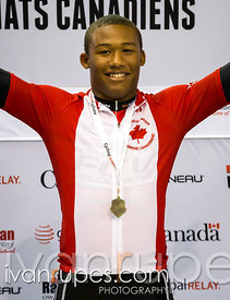 U17 Men's Time Trial Podium. 2015 Canadian Track Championships, October 11, 2015