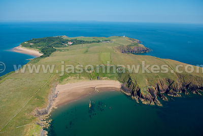 Caldey island, Pembrokeshire, Wales. Aerial view