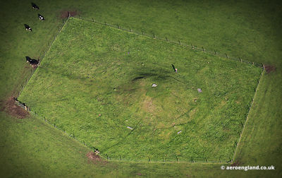 Gibb Hill Neolithic Long Barrow in the Peak District of Derbyshire England UK.