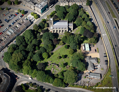 aerial photograph of Stoke Minster Stoke-on-Trent, Staffordshire UK