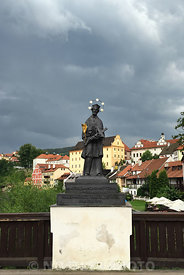 Guarding the bridge over the river Vltava