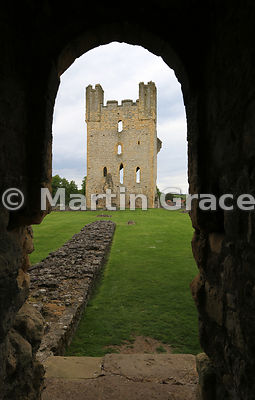 Helmsley Castle East Tower from the Chamber Block, Helmsley, North Yorkshire, England