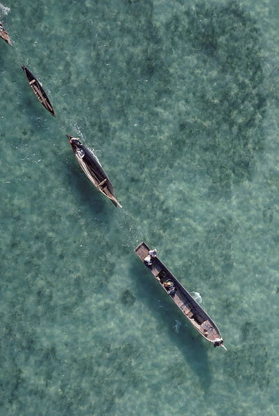 Canoes in Sulu Sea