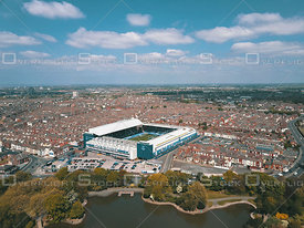 Anfield - You'll Never Walk Alone - LFC Aerial View, Liverpool Football Club England