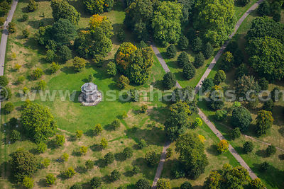 Aerial view of Bandstand in Hyde Park, London