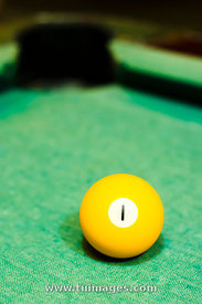 yellow billiard ball