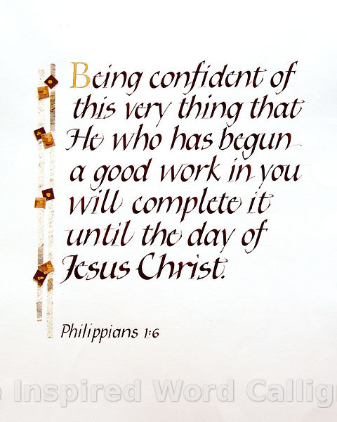 Being confident of the very thing… - Philippians 1:6 - IWC Item: 1179