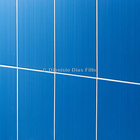 Blue Tile Wall.