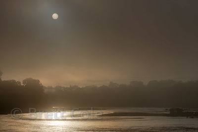 Early morning fog over the Tambopata River, Peruvian Amazon