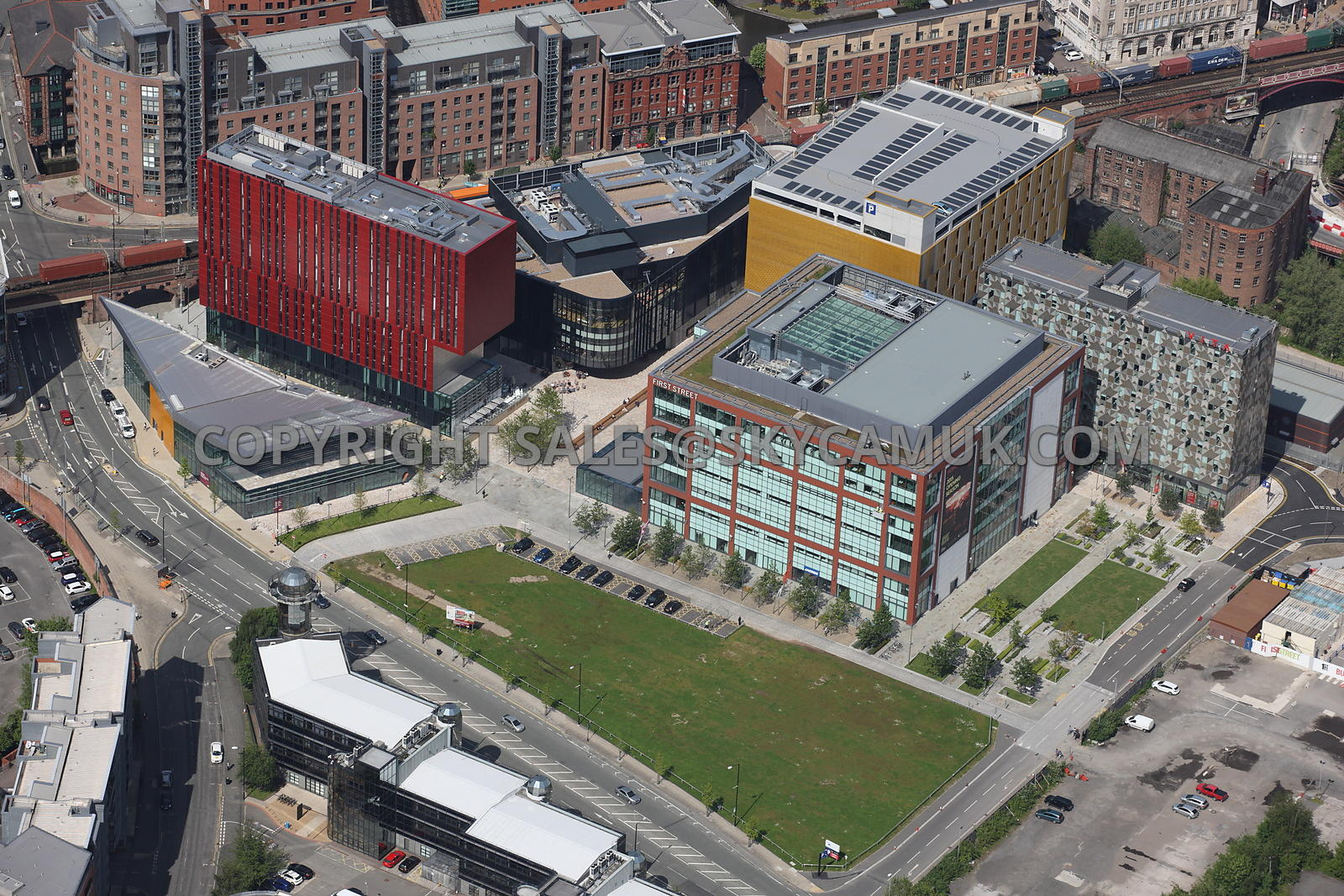 Manchester Aerial Photograph Showing The New Developments On First Street Development Site Number One