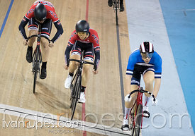 Junior Men Keirin Round 1. Canadian Track Championships (U17/Junior), April 3, 2016