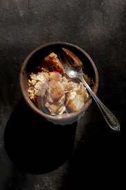 Pear and Apple Cobbler Crisp