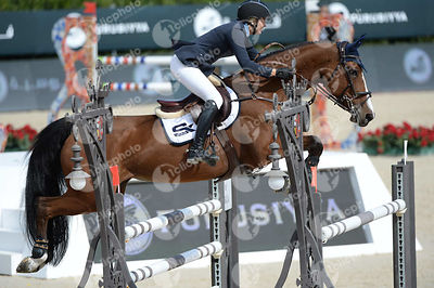 Jonna EKBEG, (SWE), EQUITA VAN T ZORGVLIET during Queen's Cup - Segura Viudas Trophy competition at CSIO5* Barcelona at Real Club de Polo, Barcelona - Spain