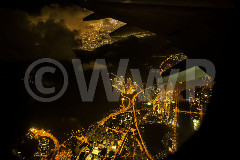 Landing in Hong Kong