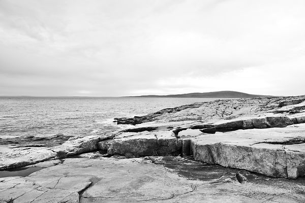 SCHOODIC PENINSULA ACADIA NATIONAL PARK MAINE BLACK AND WHITE