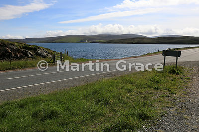 From exactly the same position as the previous image, looking east to the North Sea at Mavis Grind, Shetland