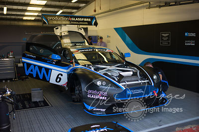 PGF-Kinfaun's Aston Martin Vantage GT3 in the pits, pre-race, at the Silverstone 500 - the third round of the British GT Championship 2014 - 1st June 2014