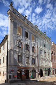 Houses in historic centre, Jindrichuv Hradec, Czech Republic
