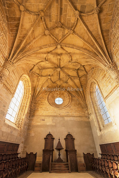 Chapter House. Convent of Christ, a UNESCO World Heritage Site. Tomar, Portugal