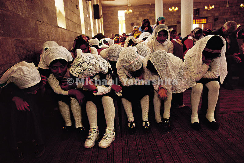 A two-hour service tests the devotion of the youngest members of this Nestorian congregation in Iraq.