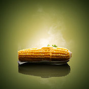 Ear of Corn on the cob with hot melting butter