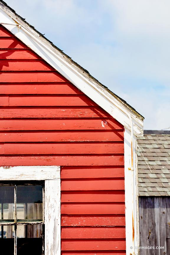 OLD RED FISHING SHACK GLOUCESTER CAPE ANN MASSACHUSETTS COLOR VERTICAL