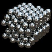 Metal: Aluminium or Aluminum atoms