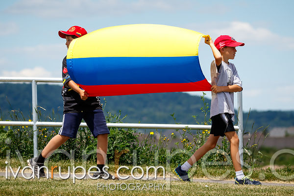 Colombian fans at the Individual Time Trial, Toronto 2015 Pan Am Games, Milton, On; July 22, 2015