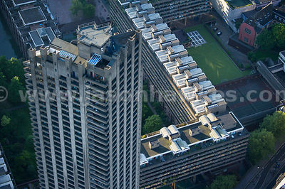 Aerial view of the Barbican, London
