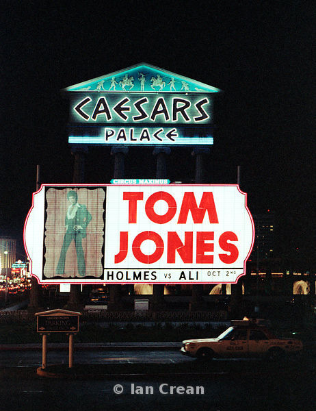 Tom Jones neon at Caesars Palace
