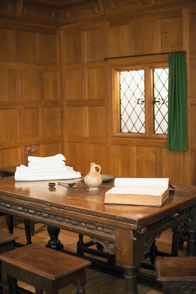UK - London - Details of a sixteenth century room at the Geffrye Museum