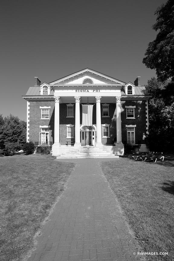 UNIVERSITY OF VERMONT BURLINGTON VERMONT BLACK AND WHITE VERTICAL