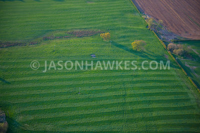 Aerial view of the countryside in Cheshire