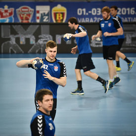 Artsiom SELVASIUK of Meshkov Brest during the Final Tournament - Final Four - SEHA - Gazprom league, training, Varazdin, Croatia, 31.03.2016, ..Mandatory Credit ©SEHA/Zsolt Melczer..