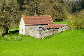 farm buildings, tintern, wye valley, gloucestershire, england.