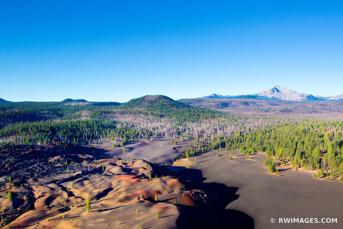 PAINTED DUNES LASSEN VOLCANIC NATIONAL PARK CALIFORNIA