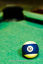 blue striped billiard ball