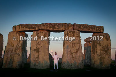 Olympic Torch Relay Stonehenge  photos