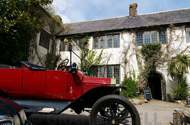 1915 Model T Ford and Churston Court Hotel, Churston Ferrers, Brixham, Devon.