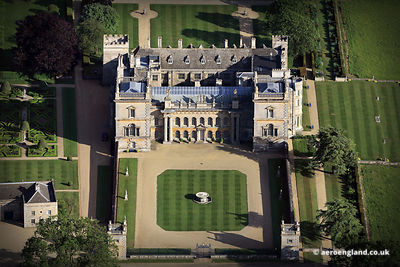 aerial photograph of Grimsthorpe Castle Lincolnshire England UK