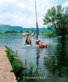 yachts on llangorse lake brecon beacons national park wales