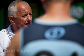Legendary Slovenian basketball coach Peter Brumen; teaching in the camp runned by KZS (Košarkarska zveza Slovenije - Slovene Basketball Federation)
