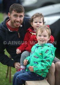 Scenes from the Headford Gymkhana and Dog show which took place last Sunday, June 12th. Pictured is Colin Lee with his children Aaron and Evanna.  Photograph by Aengus McMahon NO REPRO FEE