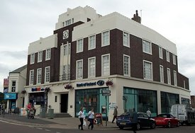 Art deco building, Bangor, Northern Ireland.