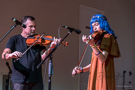 Mira Coquina Dickey performs for the Austin Friends of Traditional Music Winter Festival