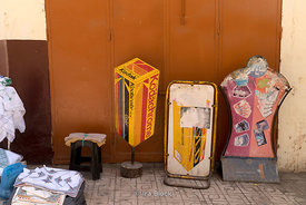 Old Kodak ads on the street in the Medina in Meknes