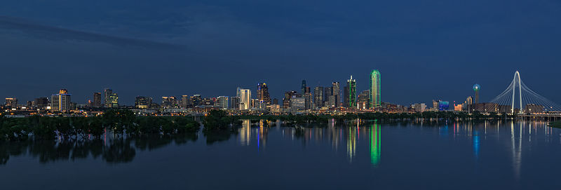 Dallas Skyline Reflections